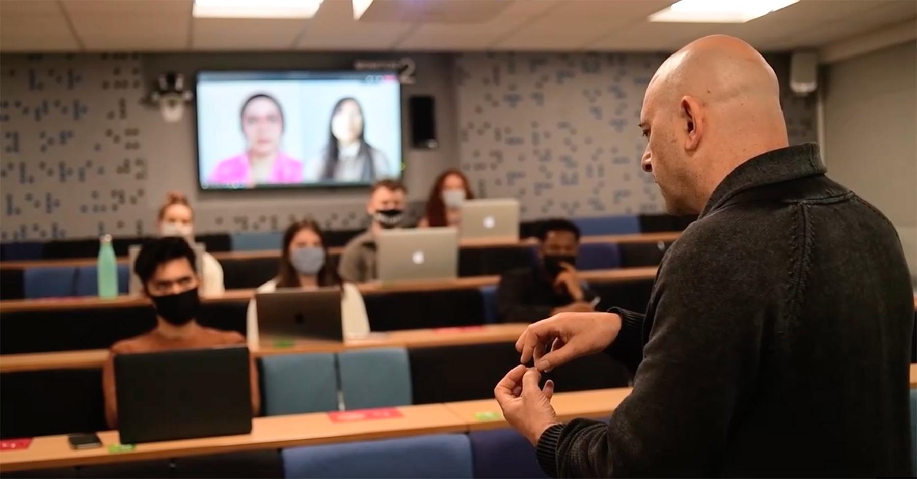 Teaching in an AV enhanced space