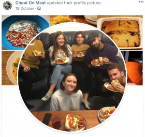 Cheat on Meat social media campaign image