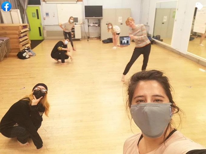 Students in dance studio